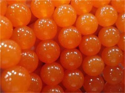 "10mm Rare Orange South America Topaz Round Loose Beads 15"" Strand AAA"