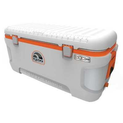 IGLOO 44807 Full Size Chest Cooler,120 qt,Wht/Org