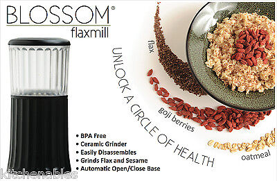 Blossom FLAX SEED MILL Sesame Seeds Spice - Ceramic Grinder **WATCH VIDEO**