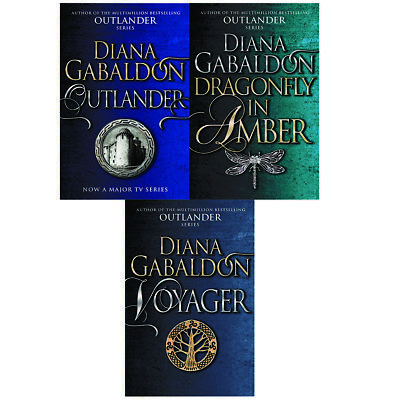 Outlander,Dragonfly In Amber,Voyager 3 books collection set by Diana gabaldon pb