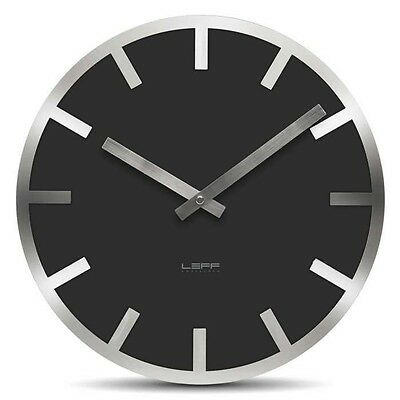 Modern Designer Wall Clock - Large - Round - Black