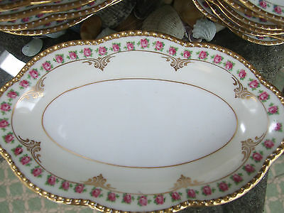 """SCHUMANN BAVARIA BRIDAL ROSE 8.75"""" Oval Relish Tray Excellent Cond"""
