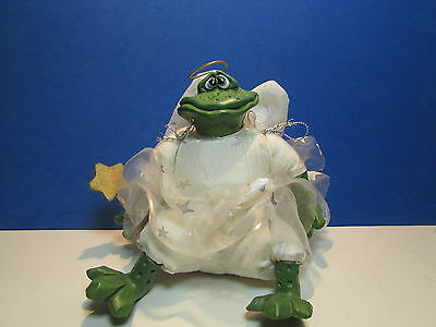 "CHRISTMAS ANGEL FROG  DREAMWEAVER - 6"" Russ Shelf Sitter - Rare"