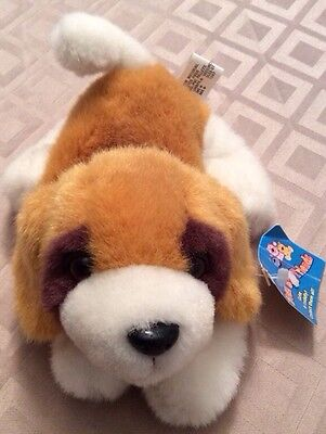 Puppy Dog Bean Bag Friends Plush Brown White Vintage Stuffed Toy Goffa Global