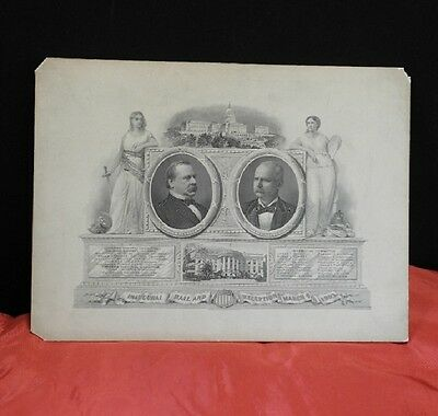 1893 Grover Cleveland Inaugural Ball Commemorative Invitation Card