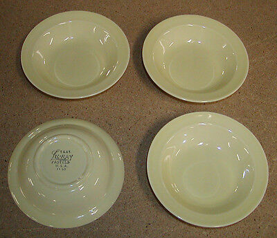 4 Luray Lu-ray Taylor Smith & Taylor Yellow Pastels Berry Bowls MINT