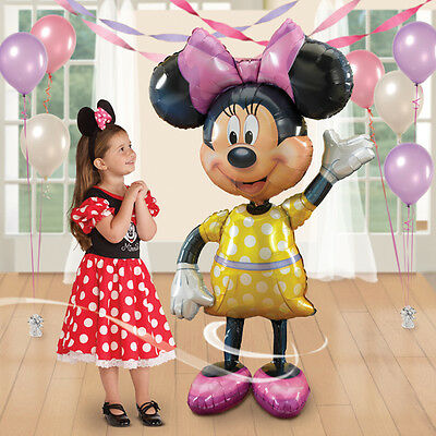 "Minnie Mouse 52"" Jumbo Airwalker Foil Balloon Party Decorating Supplies"