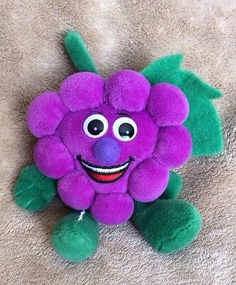 Purple Grapes Toy Veggie Seedies Seed Bag Bean Plush Fruit Vegetable Toybox 6.5