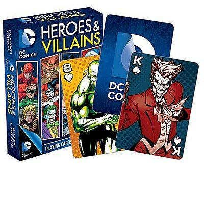 DC Comics Heroes and Villains set of 52 playing cards (nm)
