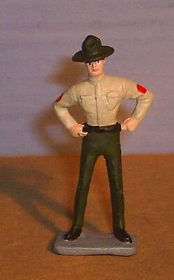 TOY SOLDIERS METAL AMERICAN WWII US MARINE DRILL SERGEANT  54MM