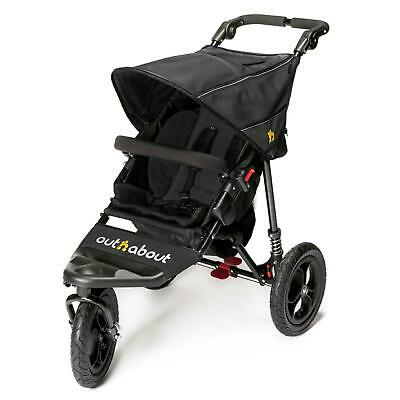 Out n About Nipper 360 v4 (Raven Black) All Terrain Single Baby Pushchair