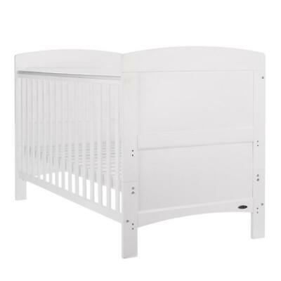 Obaby Grace Baby Cot Bed (White) - Suitable From Birth