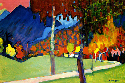 LIGHT PICTURE HELLES BILD 1913 ABSTRACT PAINTING BY WASSILY KANDINSKY REPRO