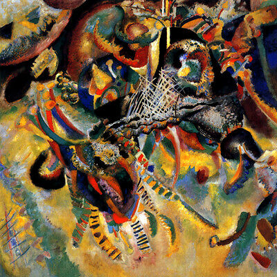 Fugue 1914 Abstratc Painting By Wassily Kandinsky Repro