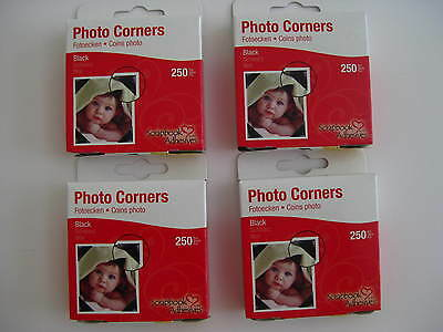 Scrapbook Adhesives *1000 Black Photo Corners* NIB  266136