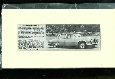 DAIMLER SOVEREIGN specification summary (mounted & ready for framing)