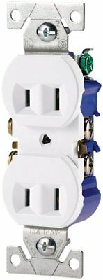 COOPER WIRING DEVICES 736W-BOX Duplex Non-Grounding Receptacle 2 Pole-2 Wire 15A