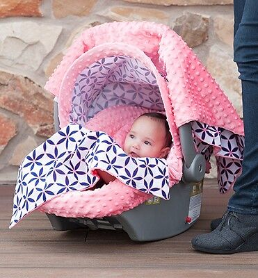 "THE WHOLE CABOODLE CARSEAT CANOPY BABY CAR SEAT COVER 5 PC SET NEW "" KENDRA """