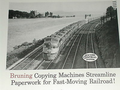 1958 Bruning Copier ad, New York Central RR
