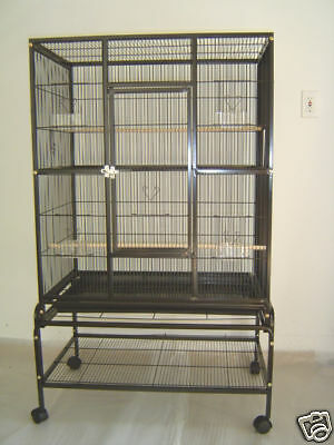 "New Bird Parrot Large Cage 32""x20""x53"" Cockatiel Conure Finch Parakeet Senegal"