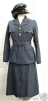 WW2 WAAF UNIFORM 1942 Original + Suitcase 7 Sdn + papers/photos House Clearance