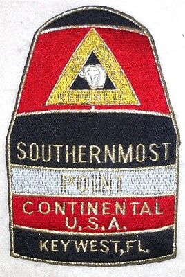 Large Embroidered Key West Cloth Patch: Southernmost Point Monument. Stunning!