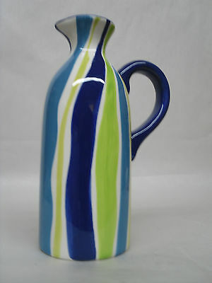CERTIFIED INTERNATIONAL JILL ROSENWALD CERAMIC MOD ART DECO PITCHER CRUET
