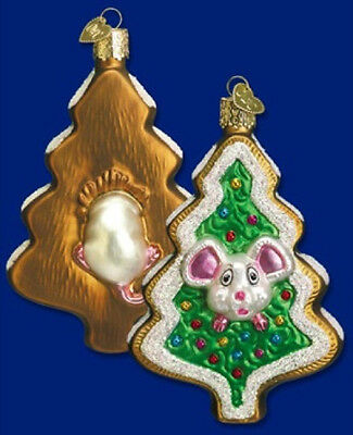 Old World Christmas COOKIE MOUSE Glass Ornament