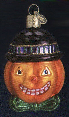 Old World Christmas MR. PUMPKIN HEAD Glass Halloween Ornament