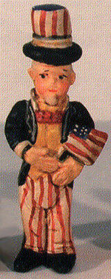 Salamander Poliwoggs Miniature Figurine UNCLE SAM WITH USA FLAG