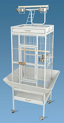New Bird Parrot Cage 18Lx18Wx61H Playtop Conure Cockatiel Caique Senegal Pionus