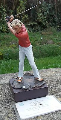 Rare ALBANY WORCESTER fine porcelain ' THE DRIVE ' Ltd Edtn Golfer figurine EXC