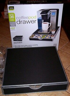 Stackable Coffee Pod Drawer,holds 36,fits KEURIG and most other k-cup machines