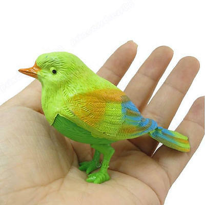 New Funny Sound Voice Control Activate Chirping Singing Bird Toy Gift