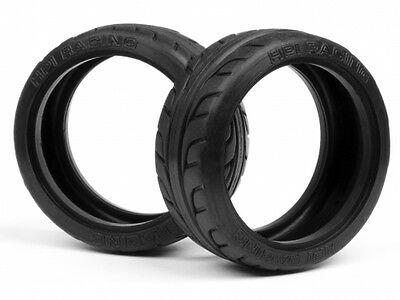 HPI RACING 4405 T-GRIP TYRE 26MM (x2 [1/10 TOURING CAR 26MM RUBBER TYRES] NEW!