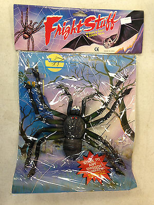 1989 Fright Stuff Giant Rubber Spider Suction Cup Halloween Decoration Monster