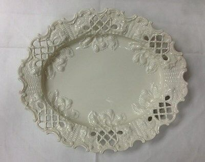"""MOTTAHEDEH CREAMWARE LONGTON COOKIE PLATE 11"""" x 9 1/4"""" MADE IN ITALY BRAND NEW"""