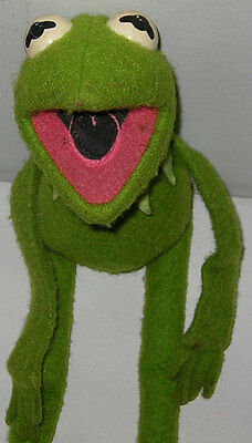 Muppets KERMIT the FROG Stuffed Plush Figure Doll Vintage 1978 Sesame Street