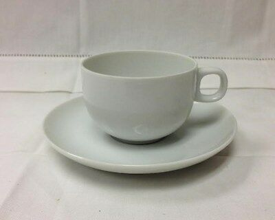 """Rosenthal """"Moon White"""" Espresso Cup/Saucer Studio Line Porcelain New Germany"""
