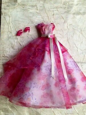 Robert Best  Flowing Pink Floral Gown Model Muse Barbie Gown