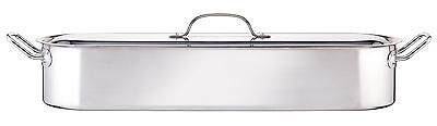 Large Stainless Steel 24 Inch / 60cm Salmon Fish Kettle Poaching Pan & Lid