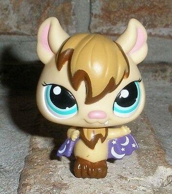 Littlest Pet Shop HALLOWEEN Vampire BAT purple cape #1680 VHTF adorable