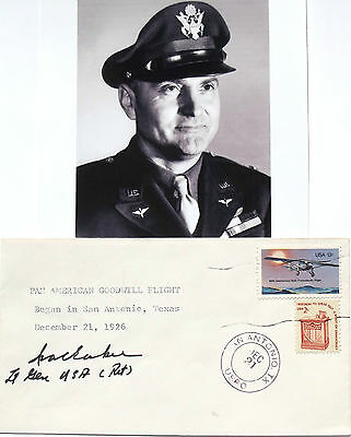 General Ira Eacker Signed Commemorative Cover U.S Eight Air Force WW II #6