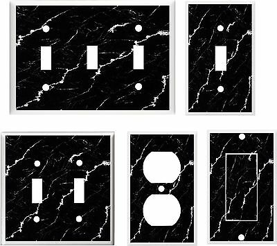 Image Of Marble Black And White   Light Switch Cover Plate Or Outlets U Pick