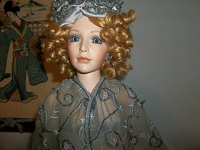 porcelain  doll by  rose  marie   24in  tall