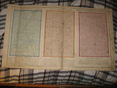 Antique 1873 Plymouth Cass Blooming Grove Township Richland County Ohio Map Nr