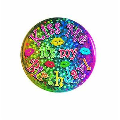 Beistle 60150 Kiss Me Its My Birthday Button Pack of 12