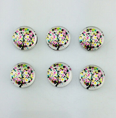 10x DIY Photo Tree Dome Round Magnifying Glass Cabochons12mm
