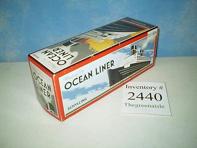 NEW 2008 Schylling Wind Up Tin Ocean Liner Model Ship PO: 115004 Rare