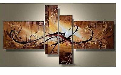 WALL ADORN MODERN ABSTRACT HUGE ART OIL PAINTING ON CANVAS (No Framed)